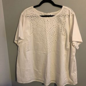 OLD NAVY | White embroidered top